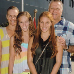 Dr. Grussmark with his wife and daughters