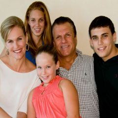 Dr. Grussmark and his family