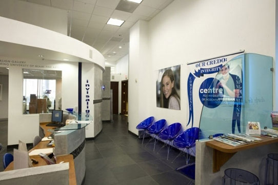 Centre for Invisible Orthodontics front office