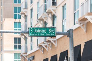 Dadeland Blvd street sign