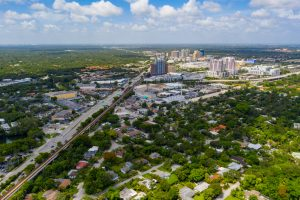Aerial photo Dadeland Miami Dade FL USA
