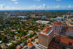 Image of Coral Gables from a bird's eye view